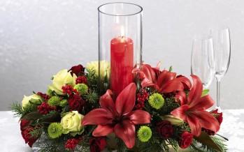 Como hacer un centro de mesa para navidad (video)