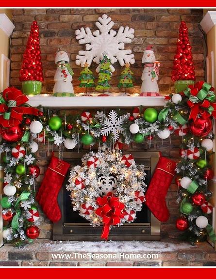 Ideas para decorar chimeneas en navidad for Ideas para adornar puertas en navidad