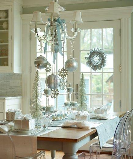 Casas De Decoracion La Plata ~ decoracion mesa plata azul navidad  Curso de organizacion de hogar