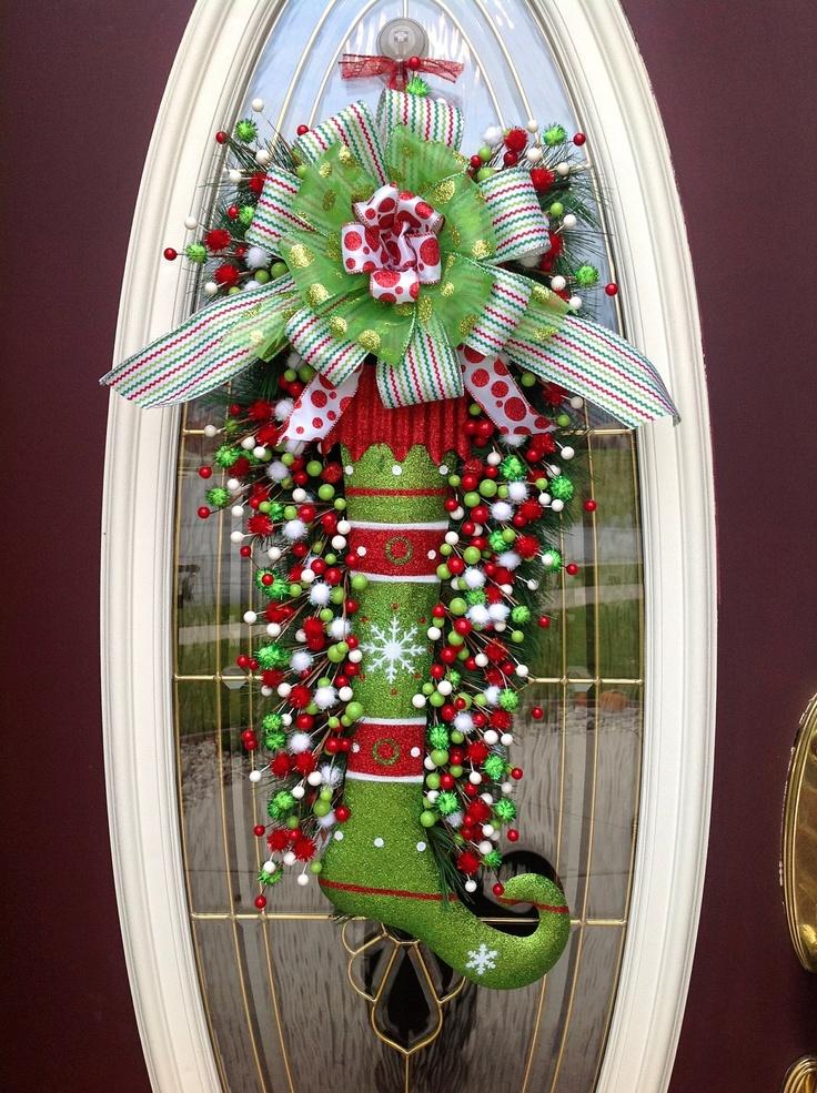 Navidad Decoracion De Puertas ~ paso a paso para Decorar la puerta para esta Navidad DIY  Curso de