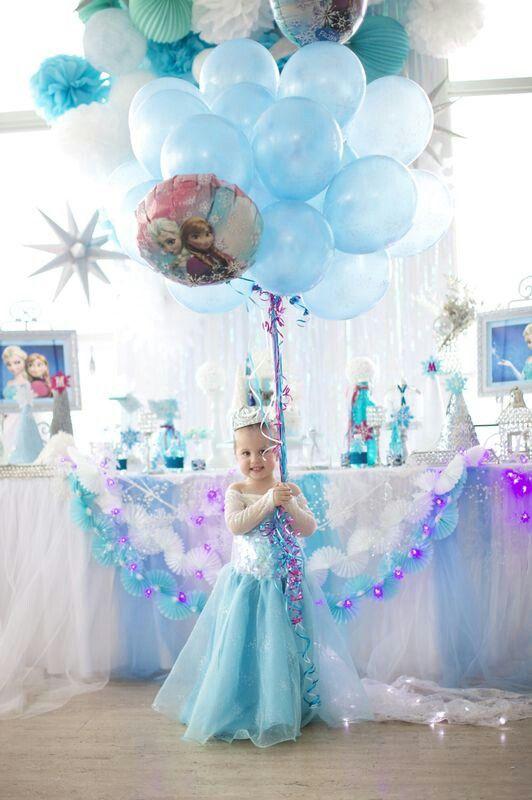 Decoracion con globos de fiesta de frozen - Adornos fiesta de cumpleanos ...
