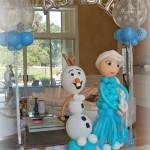 Decoracion con globos fiesta cumpleaños ed Frozen