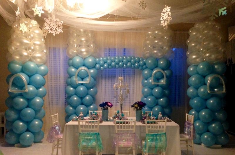 decoracion con globos fiesta cumpleaos ed frozen