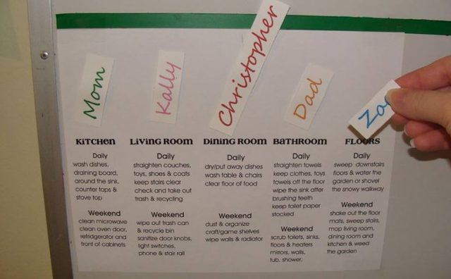 como elaborar y utilizar un calendario familiar