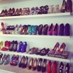 como organizar zapatos de tacon