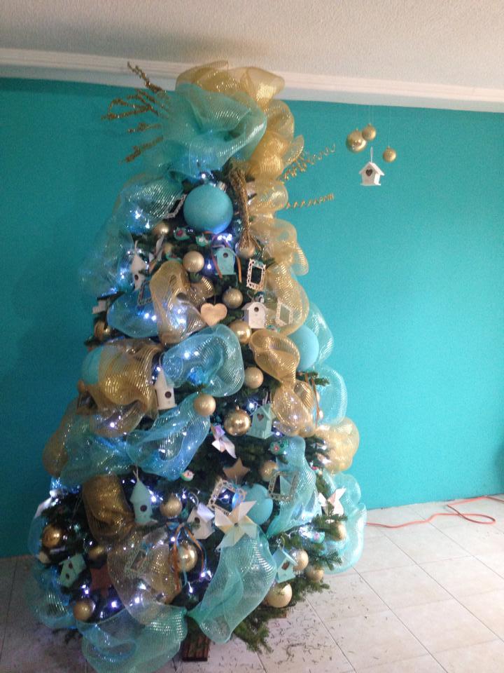 Arbol de navidad 2017 2018 decoracion de interiores for Arbol navidad turquesa