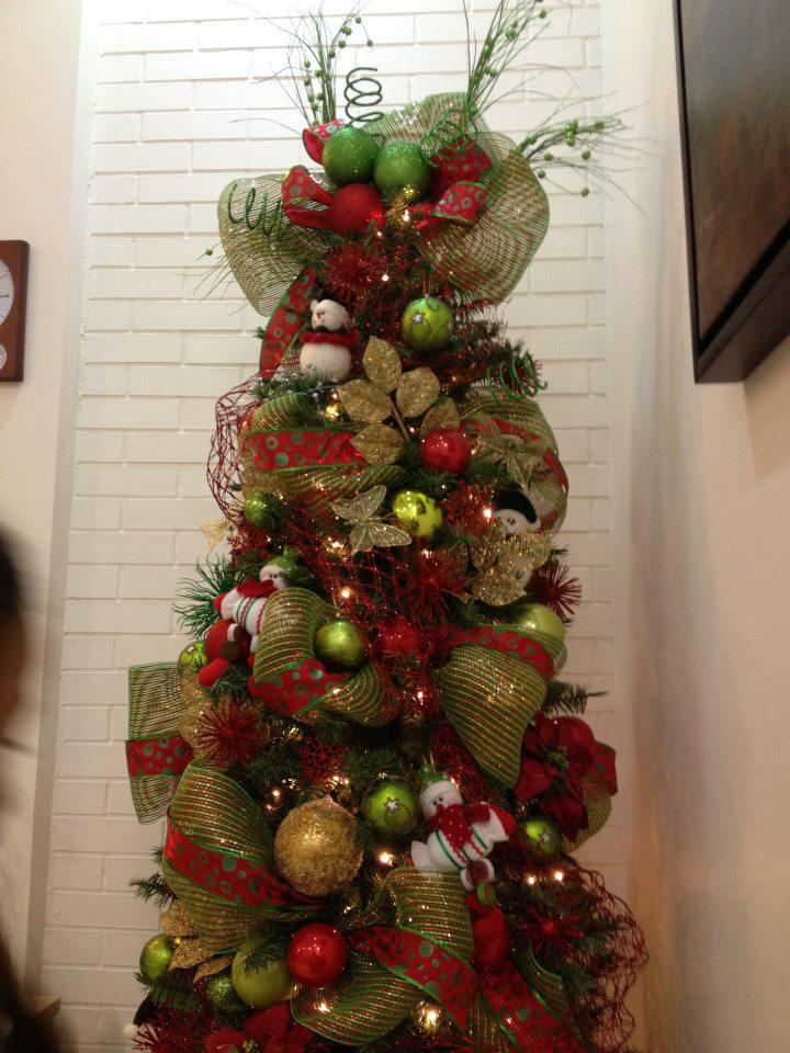 Como Decorar Arbol De Navidad Con Malla