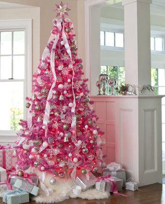 arboles de navidad rosa