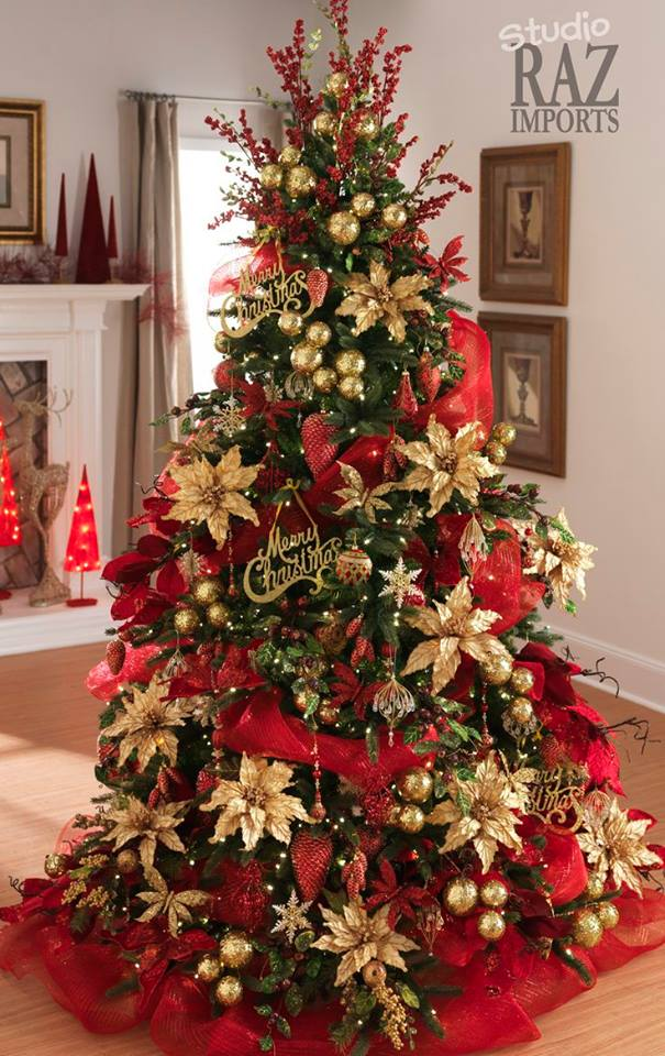ideas para decoracion de arbol o pino de navidad 2017-2018