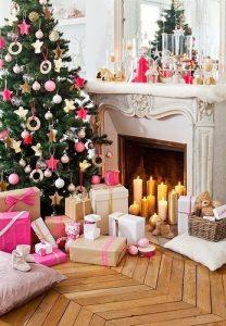 tendencias en arboles de navidad rosa
