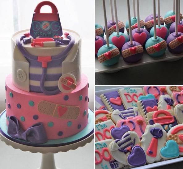 pasteles para fiesta de doctora juguetes (1)