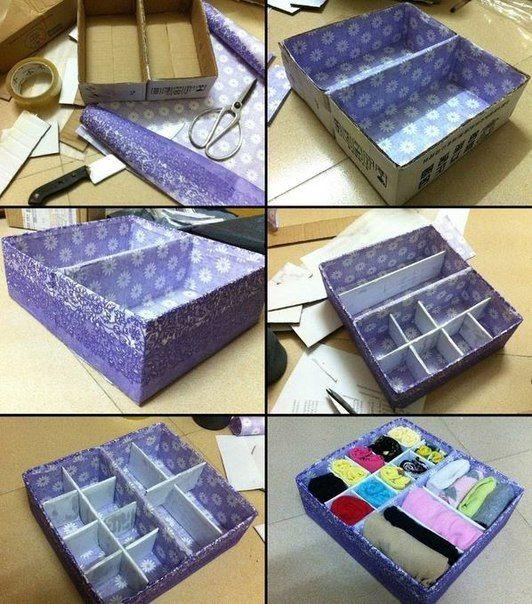 Como hacer un organizador de ropa interior de tela