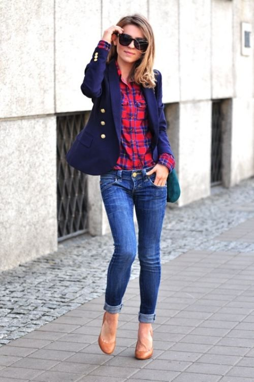ideas para look casual con zapato de tacon