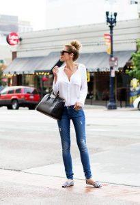 ideas para look casual con zapato flat y con zapato de tacon