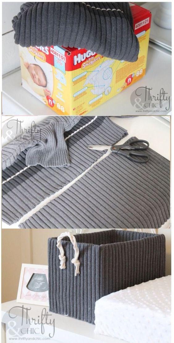 Organizador de ropa interior casero