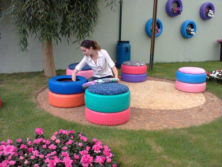 Ideas para reciclar llantas o neumaticos curso de organizacion de hogar aprenda a ser - Decorar terrazas reciclando ...