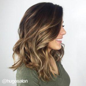 Balayage highlights en cabello corto