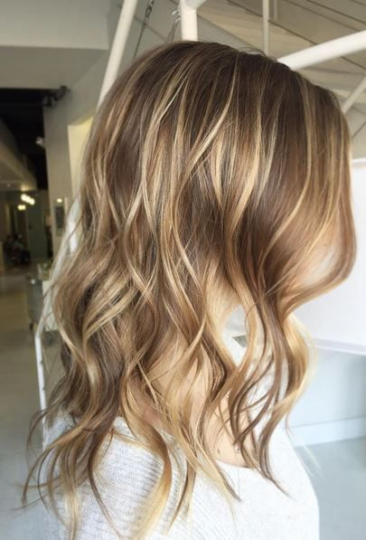 Balayage highlights en rubias