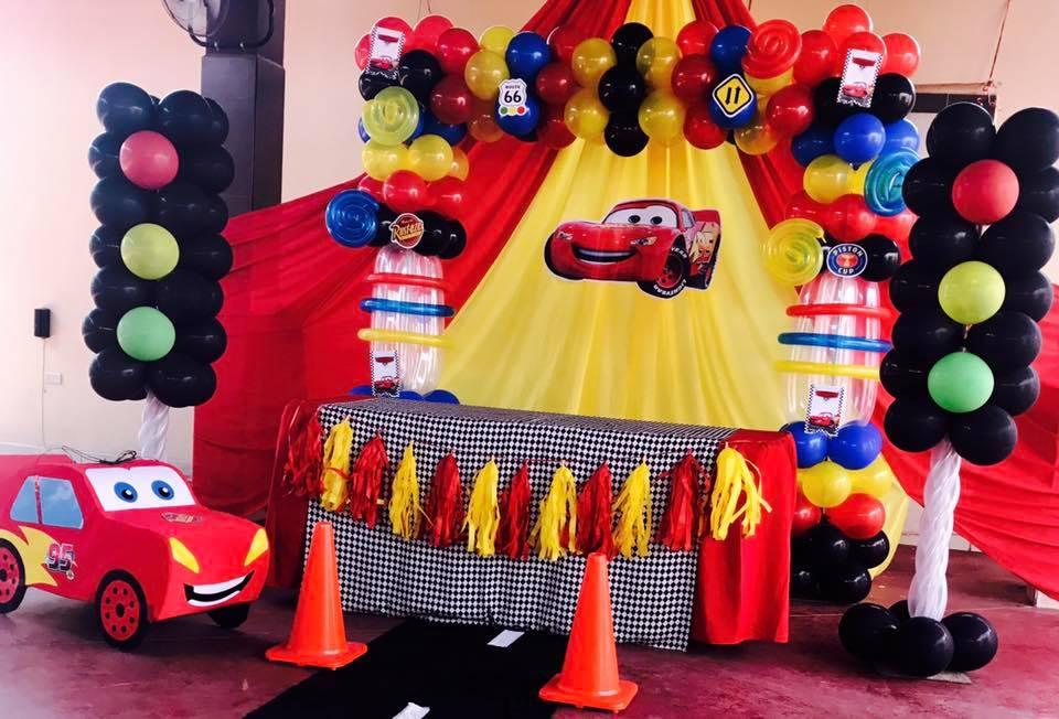 Decoración de mesa principal de Cars el rayo Mc Queen