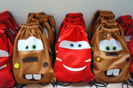 Dulceros para piñata de cars