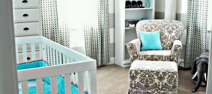 Ideas para decoración de habitaciones para bebés con detalles en gris