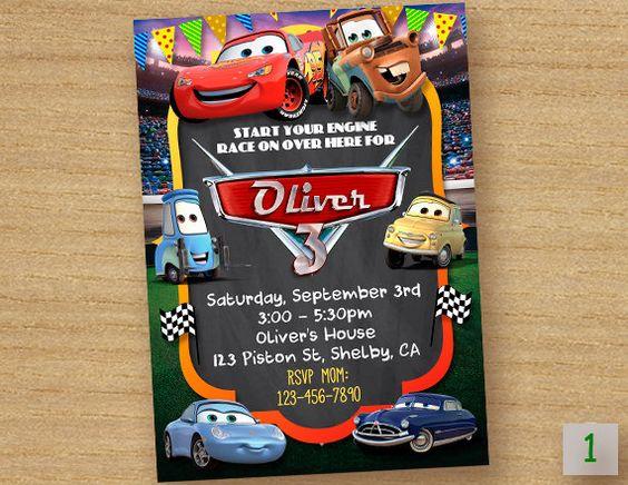Invitacionespara fiesta de cars Rayo McQueen