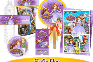Kit de Invitaciones Personalizadas Princesita Sofia