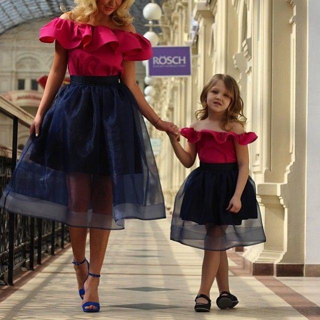 Vestidos para madre e hija modernos
