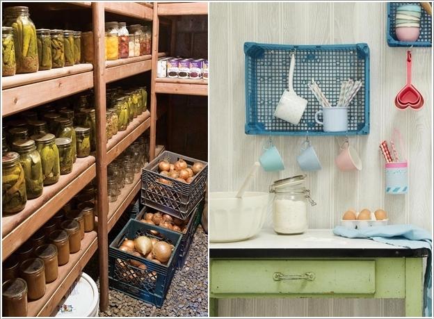 Reciclar cajas de plastico decoracion de interiores - Reciclar muebles de cocina ...