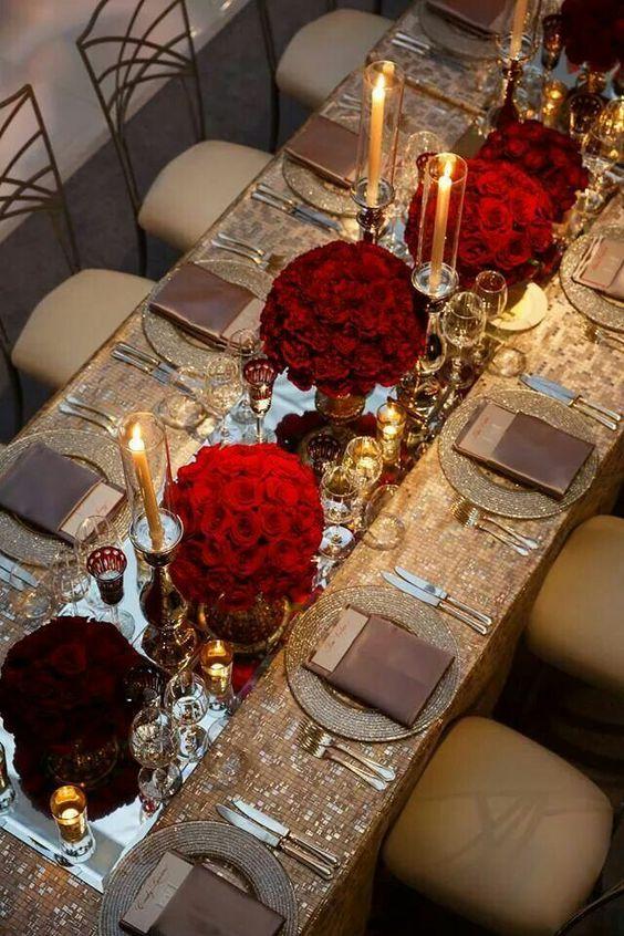Centros de mesa Rojo (2)