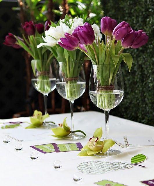 Centros de mesa con copas (2)