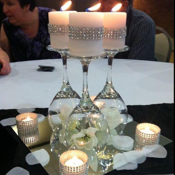 Centros de mesa con copas (3)