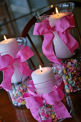 Centros de mesa con dulces (2)