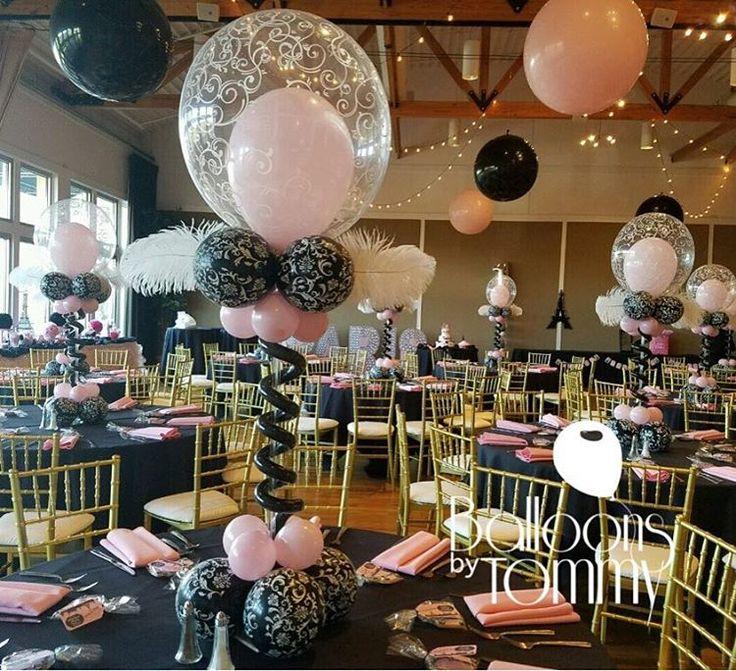 Centros de mesa con globos (2)