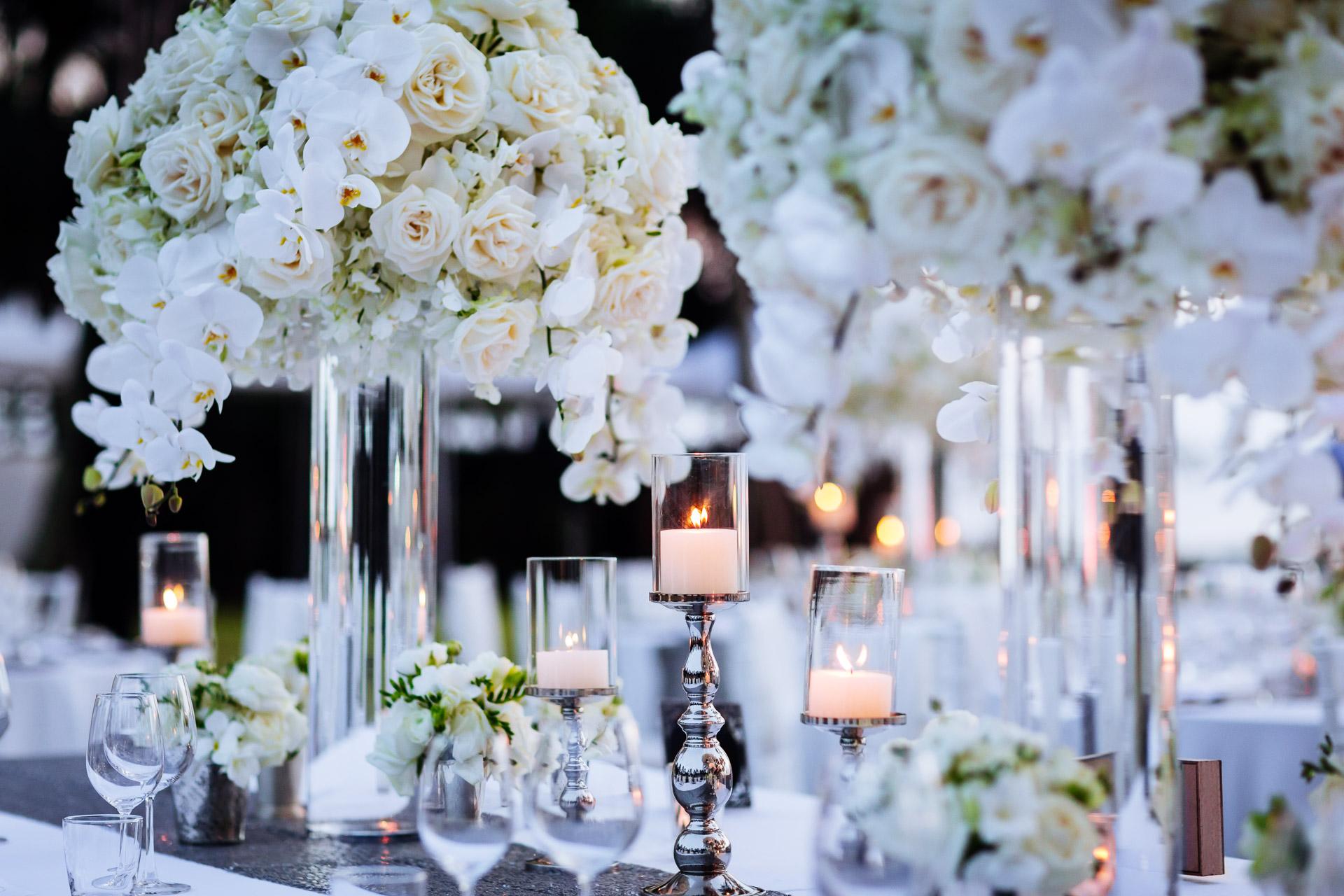 Centros de mesa en bases de cristal decoracion de for Bases para mesas de cristal