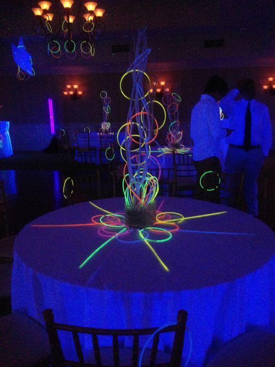 Centros de mesa neon (3)