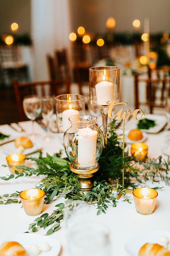 Centros de mesa para quinceañera con velas