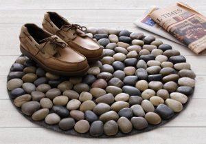 como hacer tapetes de piedras