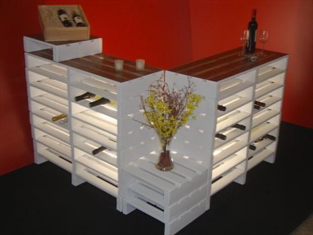 convertir pallets tarimas en bar decoracion de interiores fachadas para casas como organizar. Black Bedroom Furniture Sets. Home Design Ideas