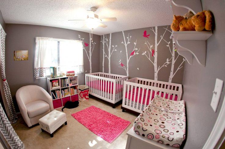 Decoracion de habitacion para gemelas decoracion de for Habitacion bebe con vinilos