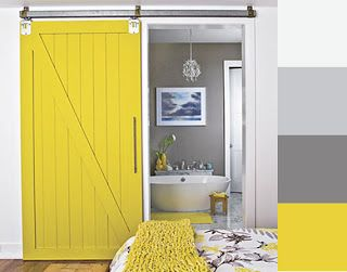 decoracion Gris amarillo