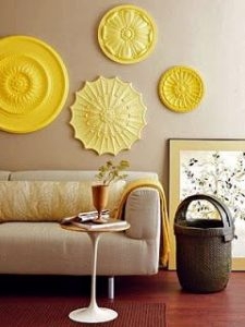 decoration gray and yellow