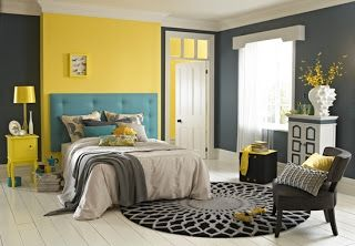 gray and yellow decoration