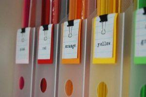 Ideas para Organizar  pintura utilizando un Clip