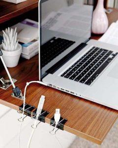 Ideas para Organizar cables utilizando un Clip