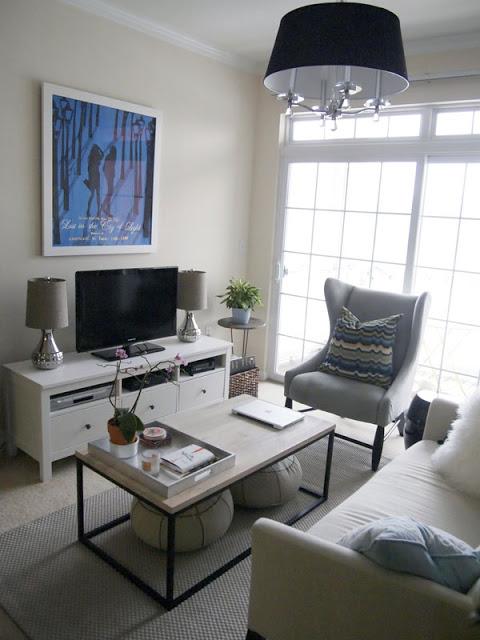 Ideas salas de estar chicas decoracion de interiores - Como organizar los muebles en una casa pequena ...