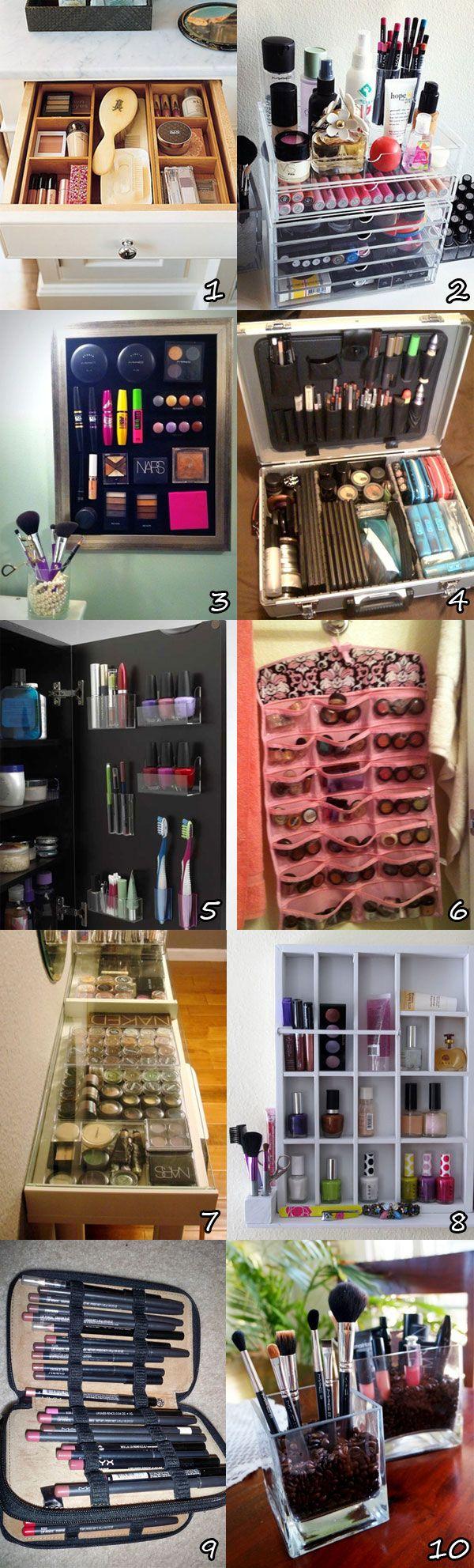 como organizar maquillaje