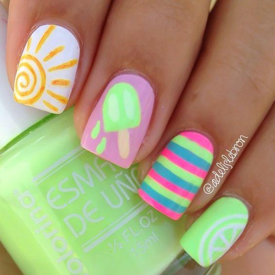 Ideas para decoracion de uñas para verano (7) | Decoracion de ...