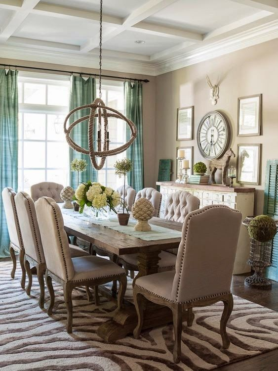 Dining rooms rustic decor