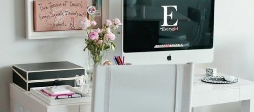 Ideas para Organizar nuestra oficina en casa con toques Femeninos
